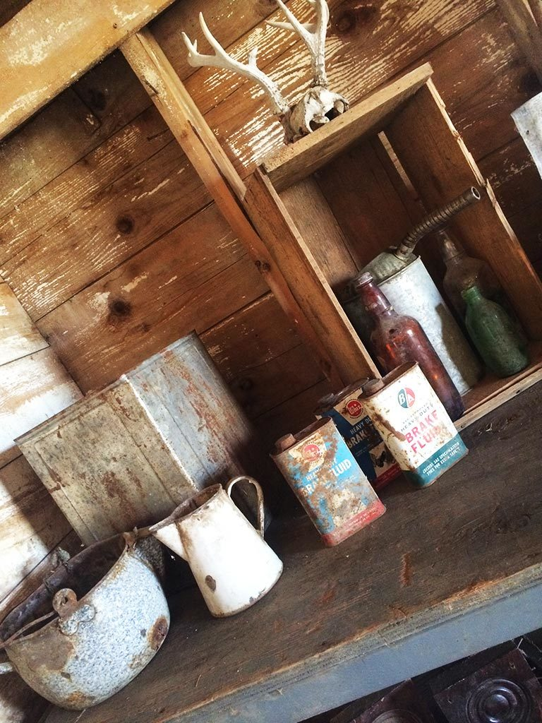 Genuine antique containers, pots and bottles