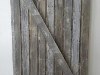 Reclaimed barnwood door