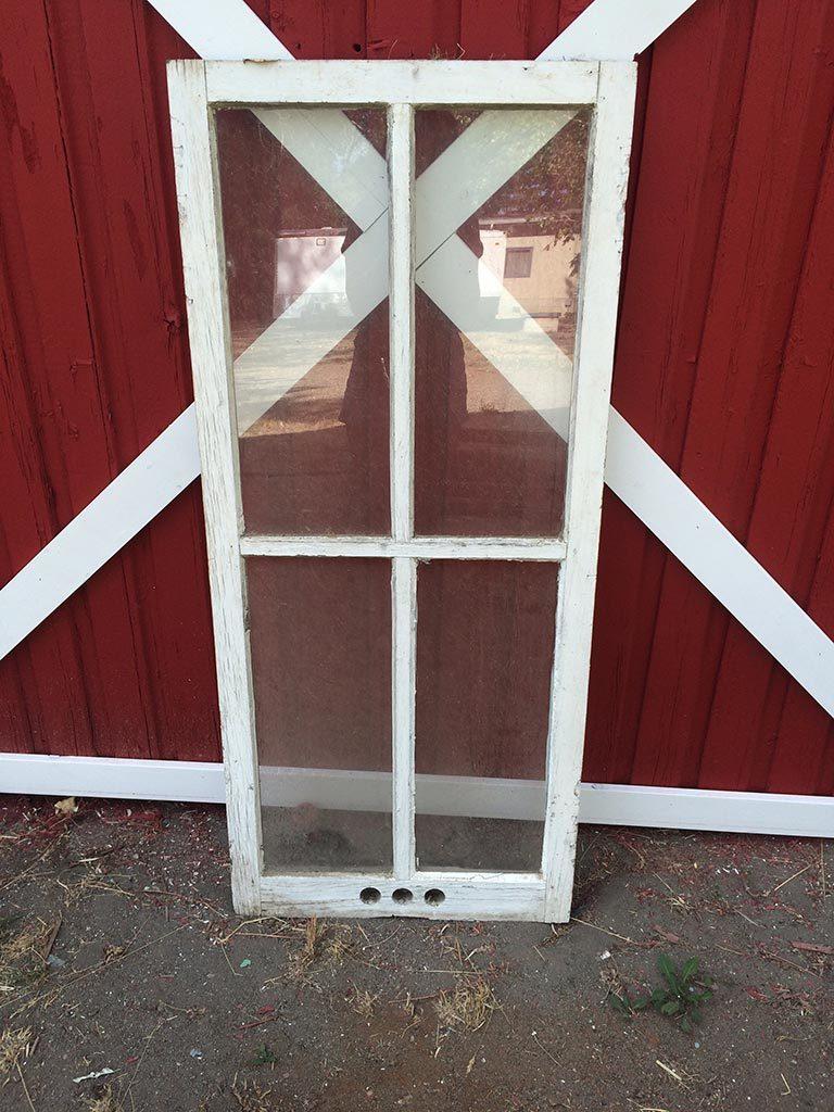 White rustic window