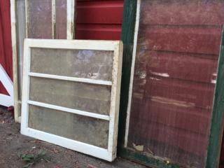 Rustic antique windows
