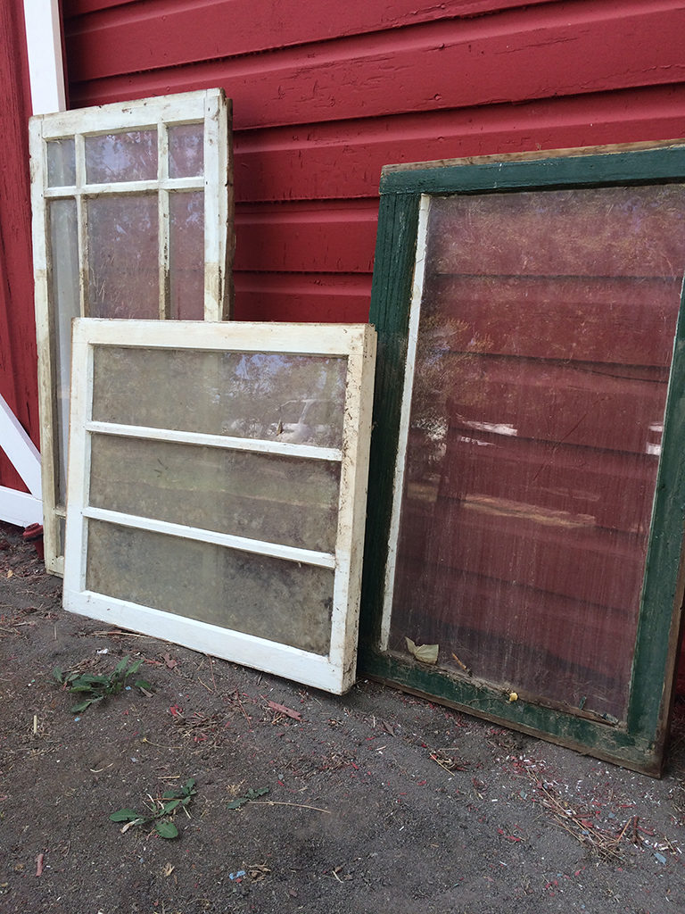 Rustic antique windows
