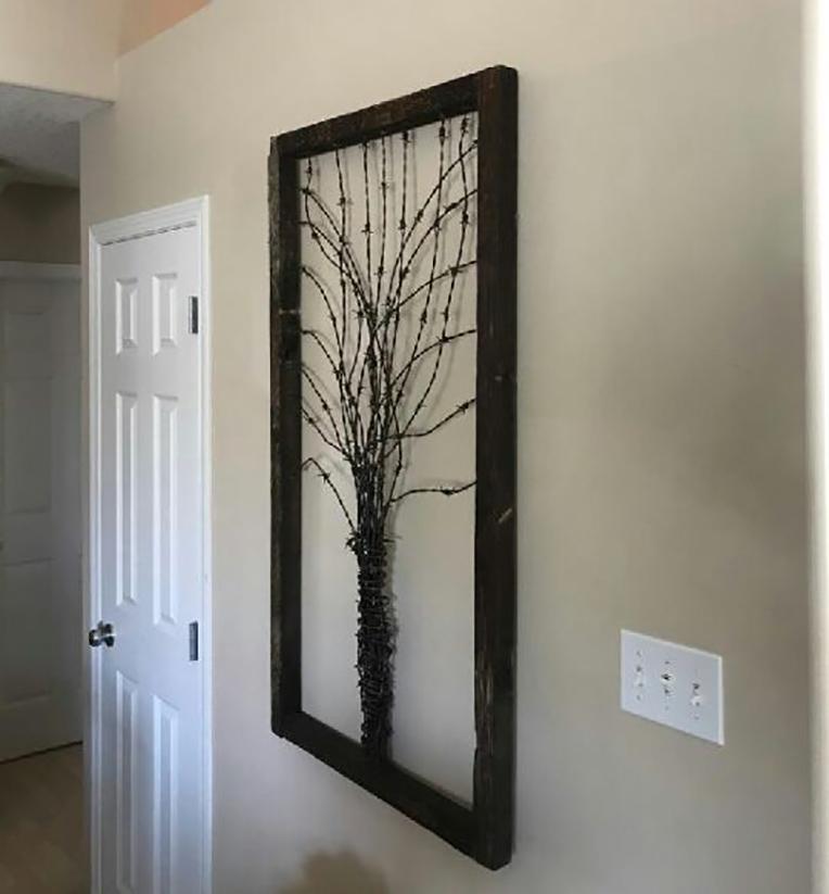 Rustic reclaimed barnwood decor