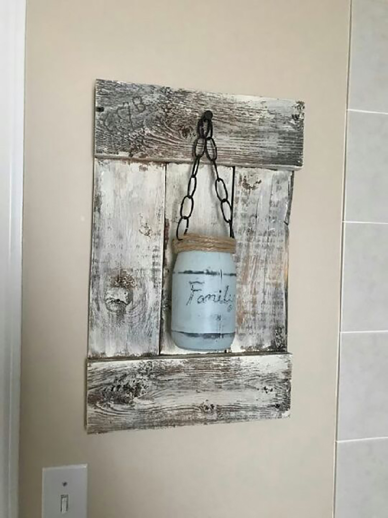 Rustic reclaimed barnwood home decor