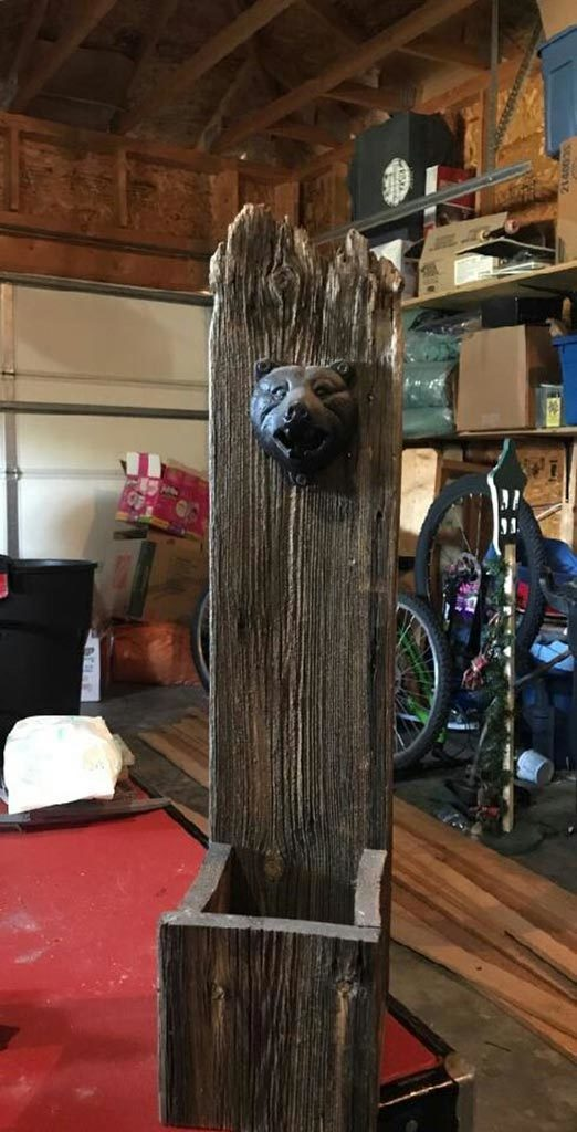 Reclaimed barnwood decor