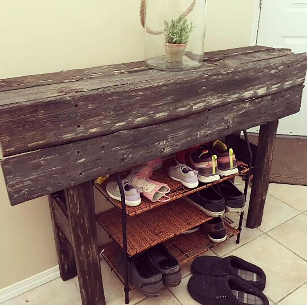 Reclaimed barnwood home decor